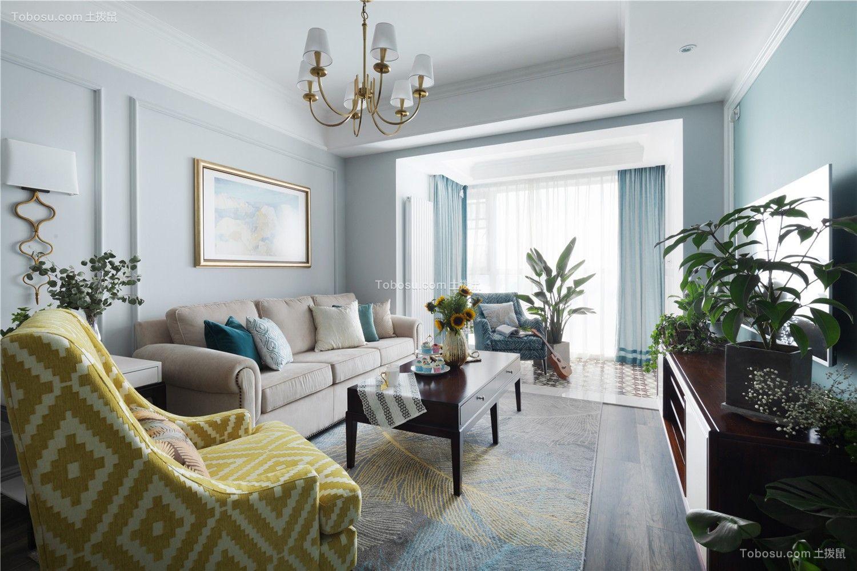 88平简单风格两居室装修效果图