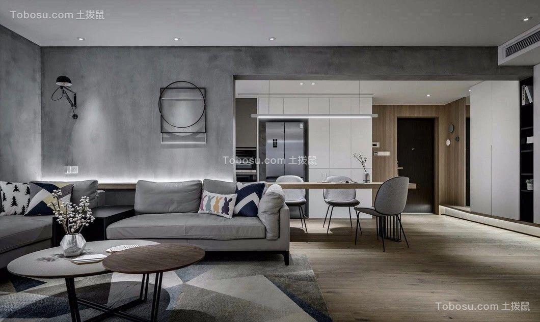 93平简欧风格两居室装修效果图
