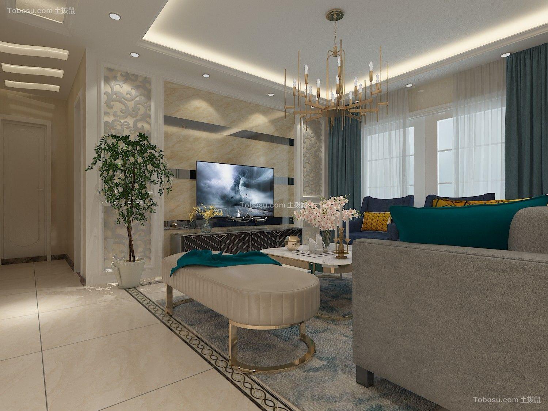 162平美式风格三居室装修效果图