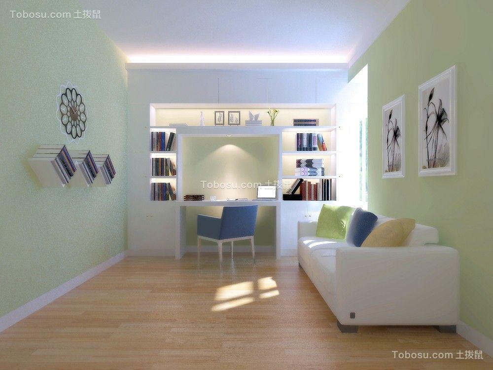 极致绿色书房装修案例