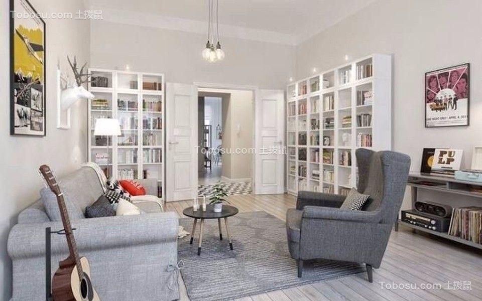87平北欧风格两居室装修效果图