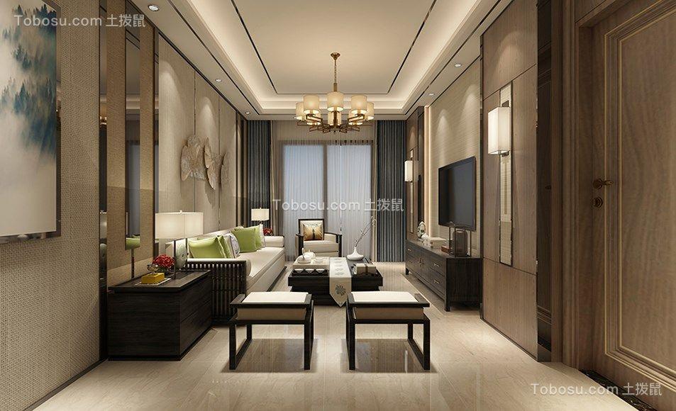 146平中式古典风格三居室装修效果图