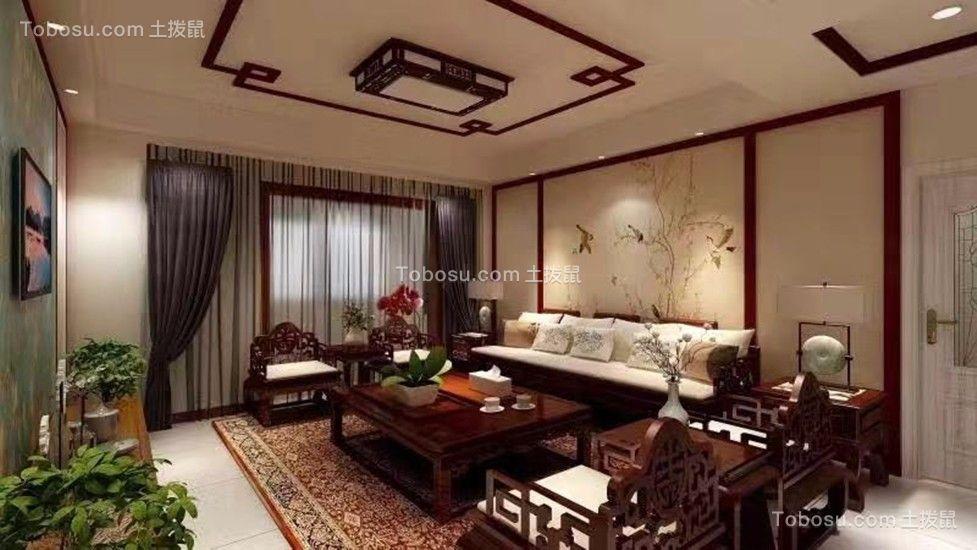 159平中式风格楼房装修效果图
