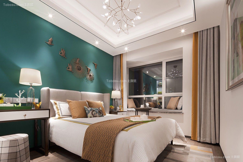 朴实无华绿色卧室装修设计图片