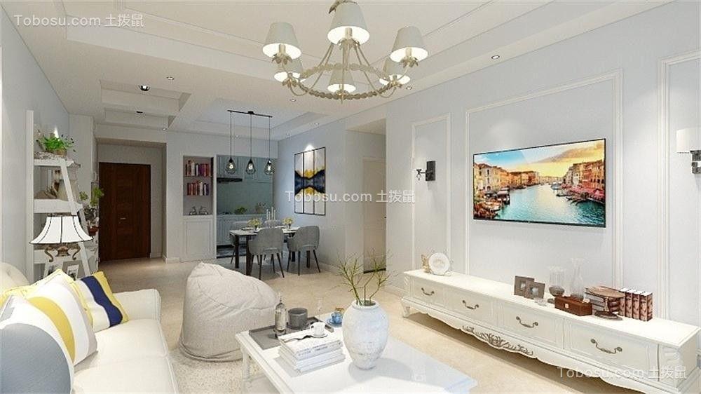 96平美式风格两居室装修效果图