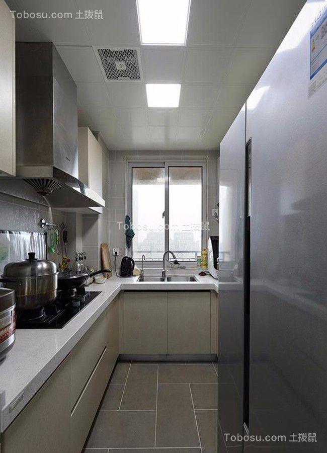 简约米色厨房设计图欣赏