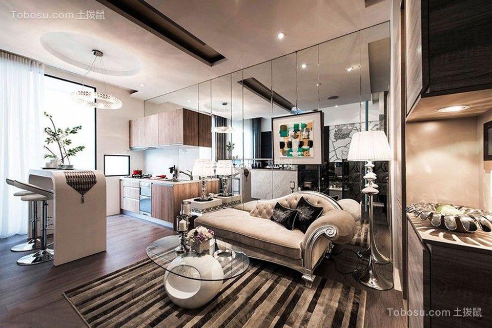 50平欧式风格一居室装修效果图