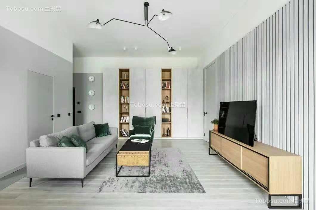 133平北欧风格三居室装修效果图
