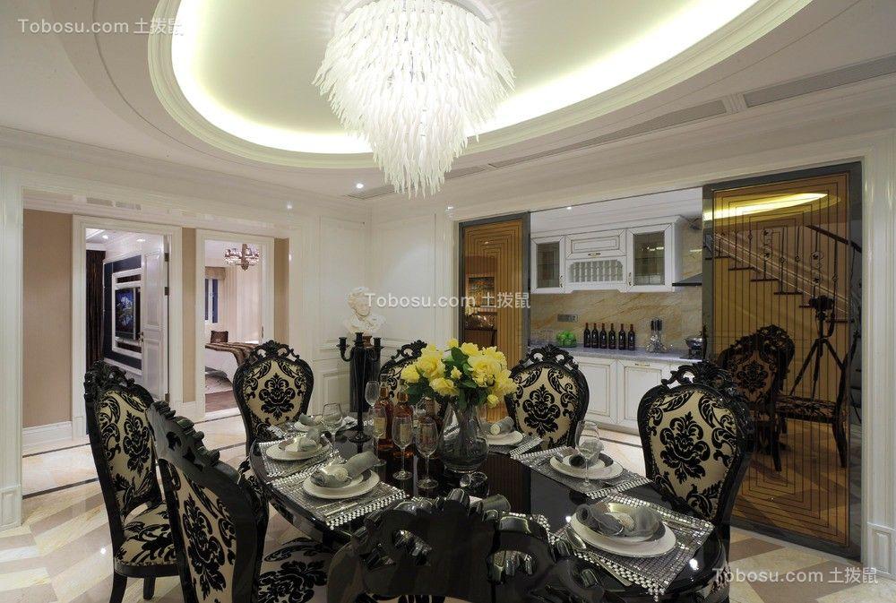 94平新古典风格两居室装修效果图