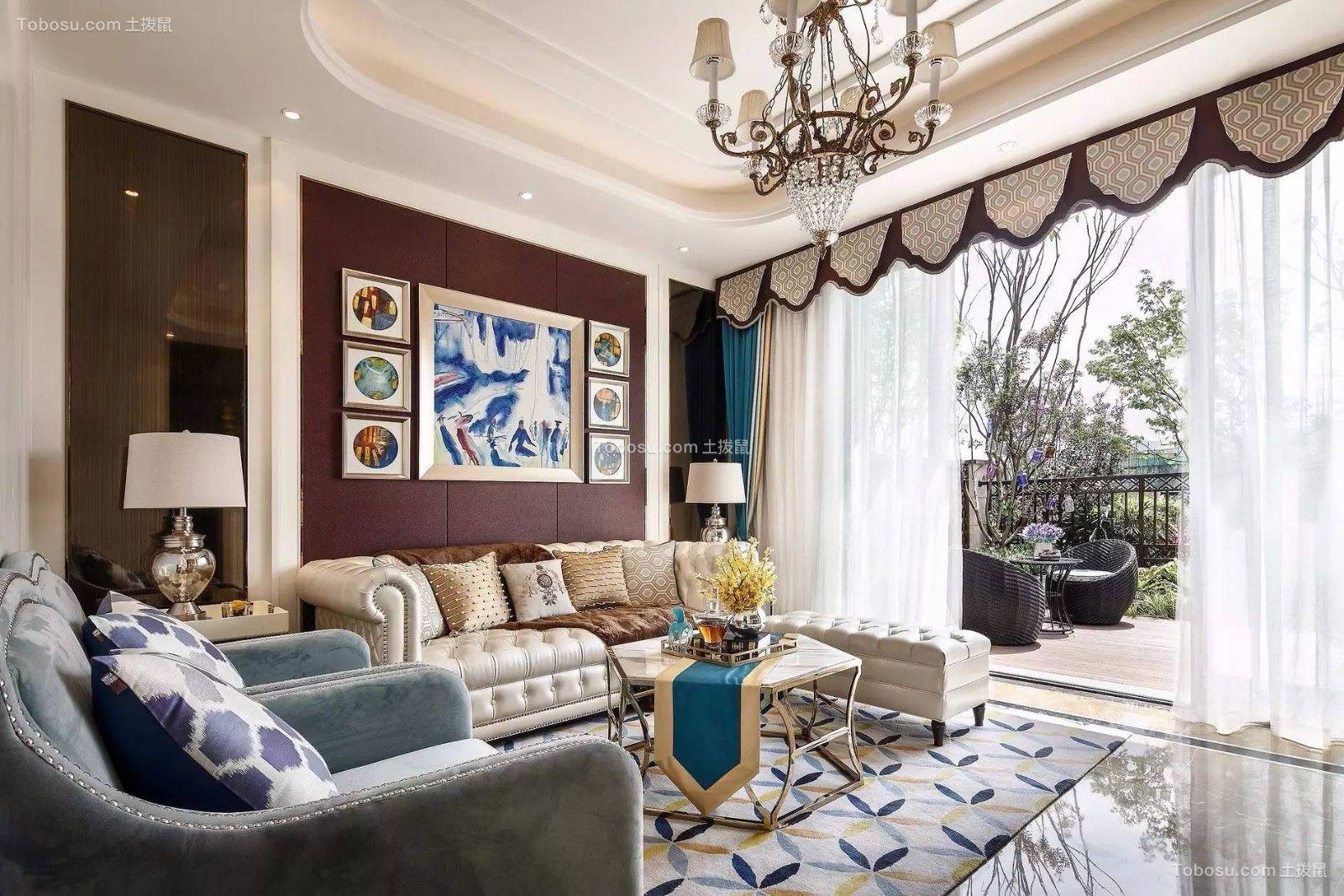 95平新古典风格两居室装修效果图