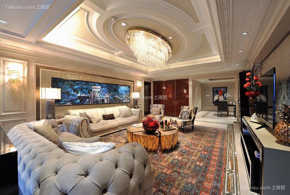 119平新古典风格两居室装修效果图