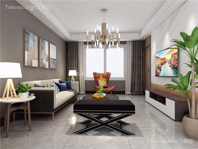 122平现代简约风格三居室装修效果图