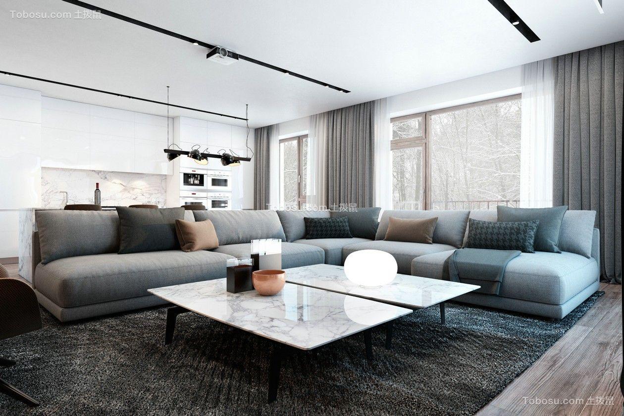 157平现代简约风格三居室装修效果图