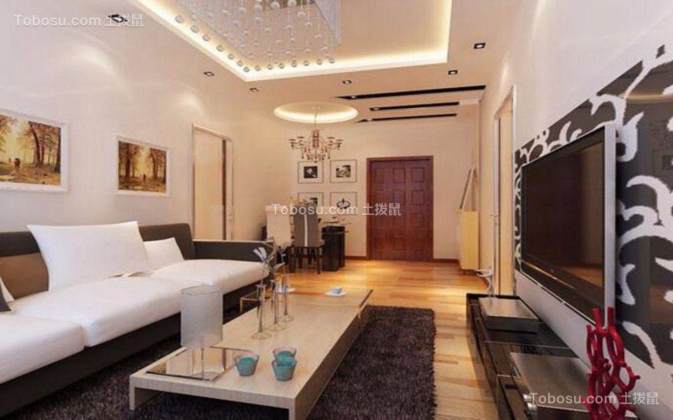 80平混搭风格两居室装修效果图