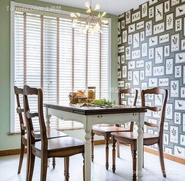 餐厅彩色背景墙混搭风格装饰设计图片