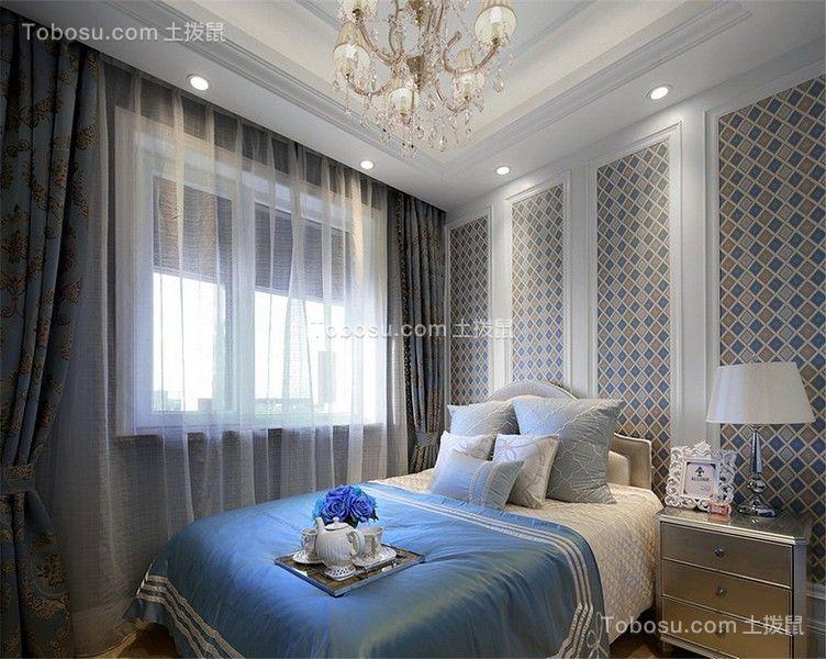 2019法式卧室装修设计图片 2019法式窗帘装修效果图片