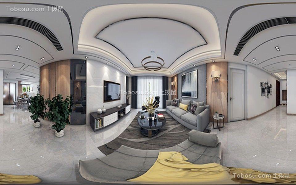 244平现代风格四居室装修效果图