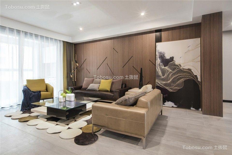 124平现代简约风格三居室装修效果图