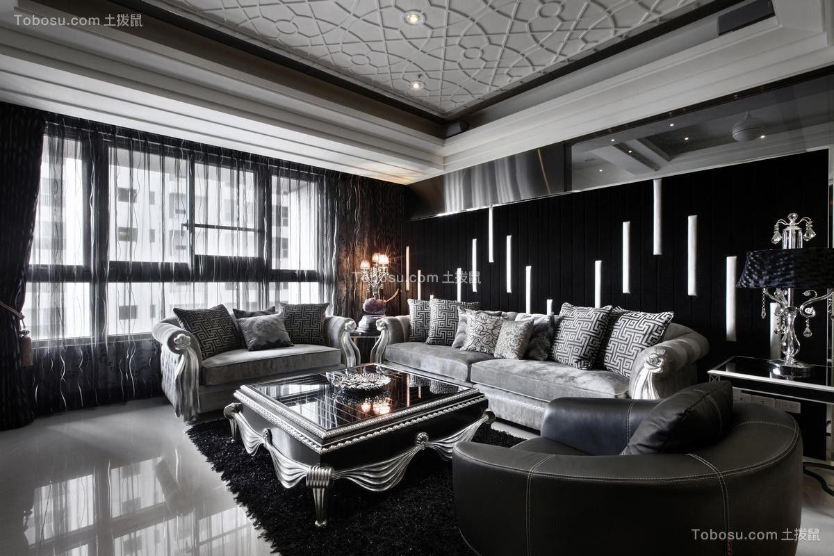 92平新古典风格两居室装修效果图