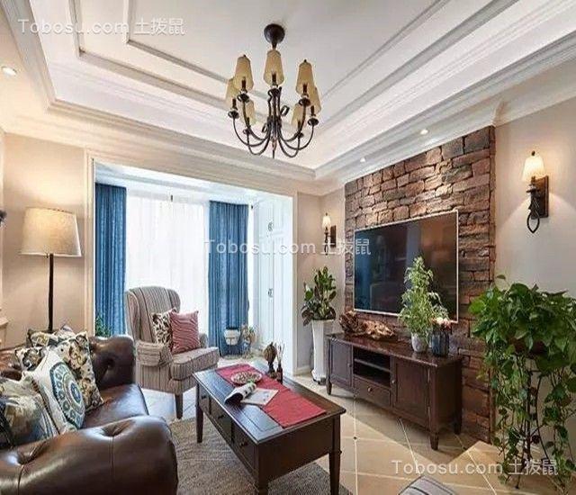 103平美式风格四居室装修效果图