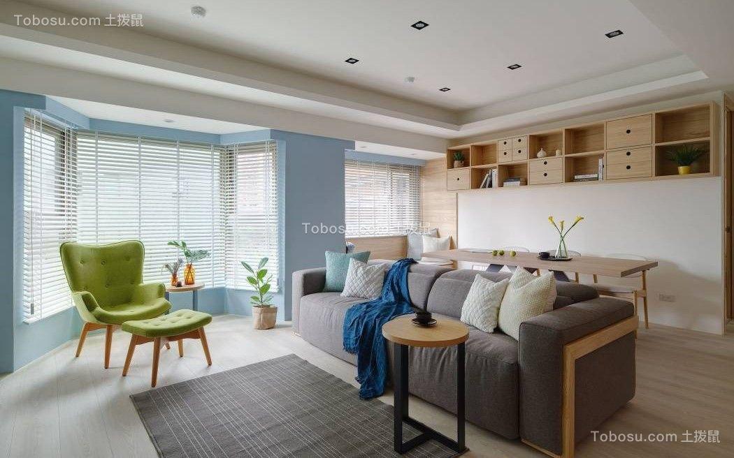 80平北欧风格两居室装修效果图