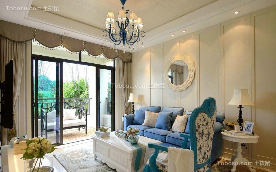 76平地中海风格两居室装修效果图