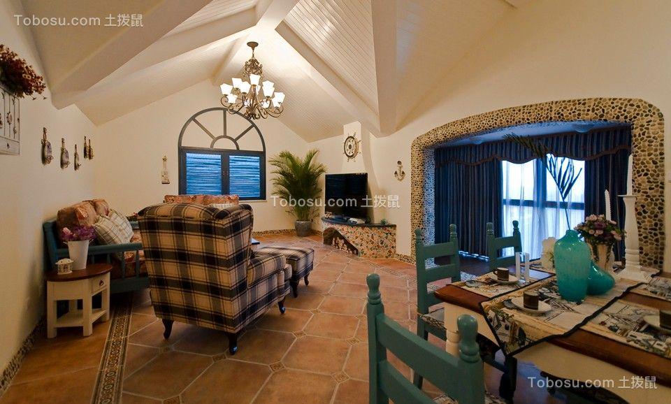 172平地中海风格三居室装修效果图
