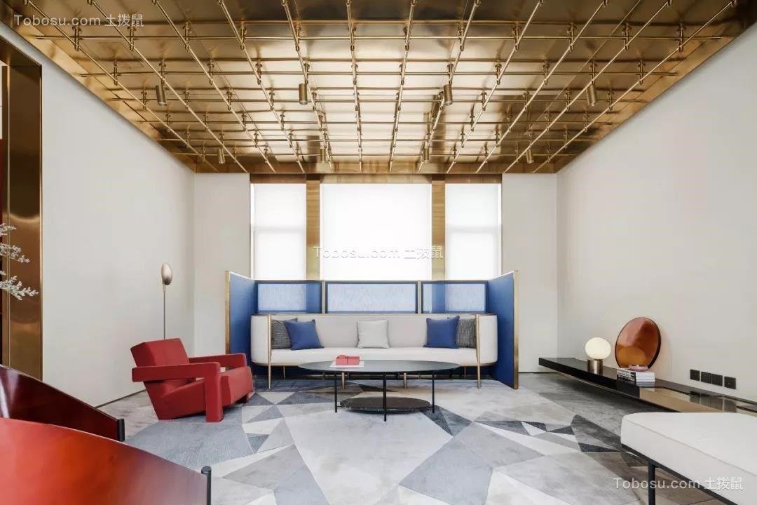 110平现代风格两居室装修效果图