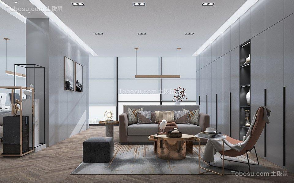 110平现代风格办公室装修效果图
