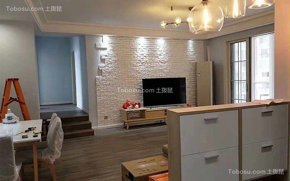 105平北欧风格三居室装修效果图