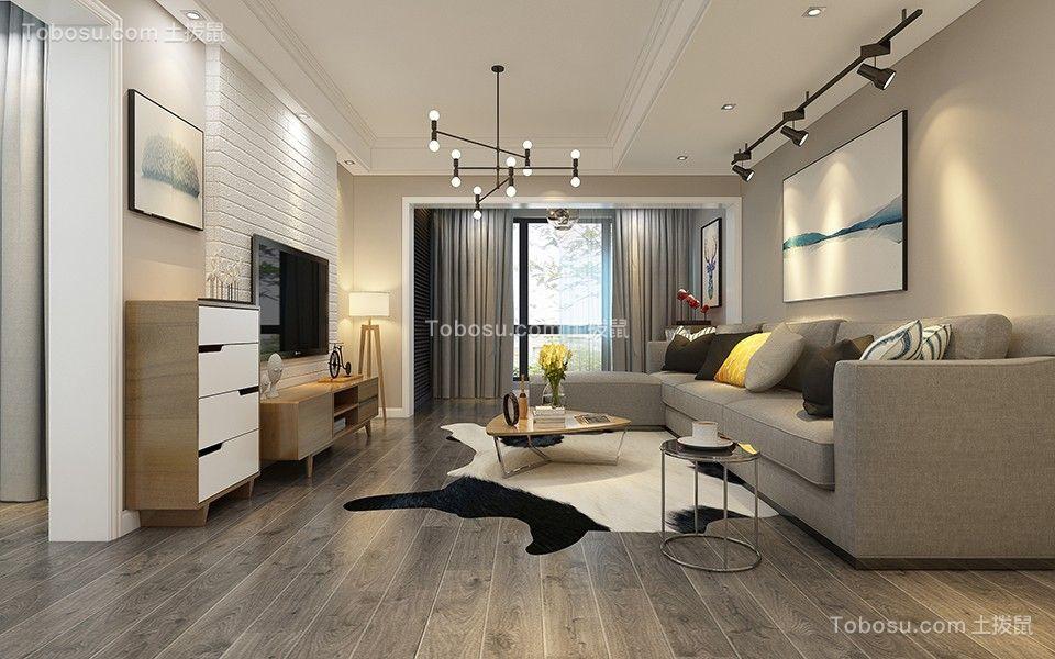 166平现代简约风格三居室装修效果图