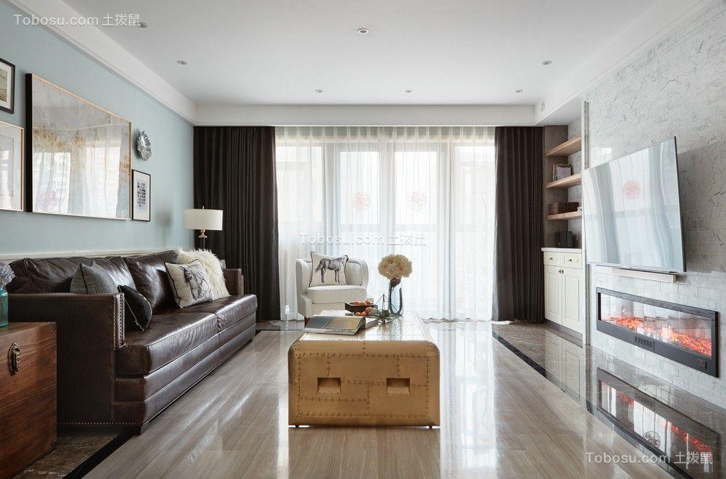 89平美式风格两居室装修效果图