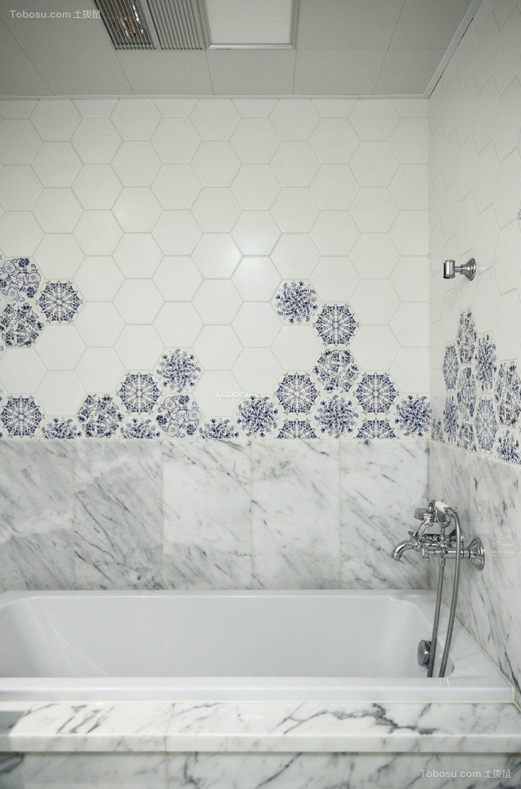 2018美式浴室设计图片 2018美式浴缸装修效果图大全