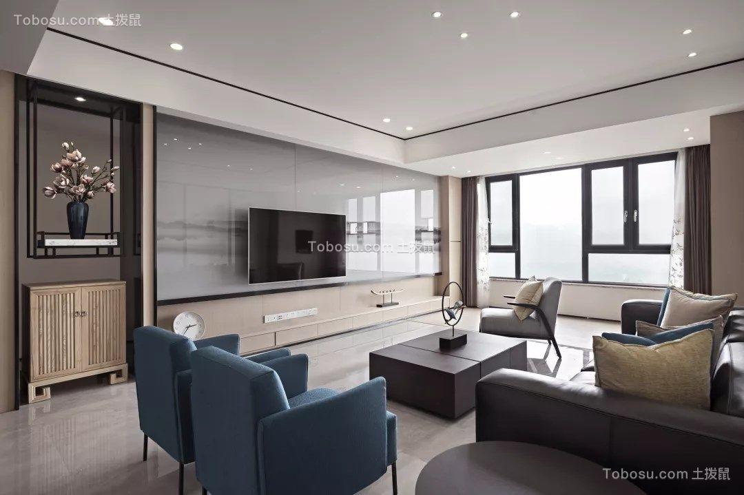 175平新中式风格四居室装修效果图