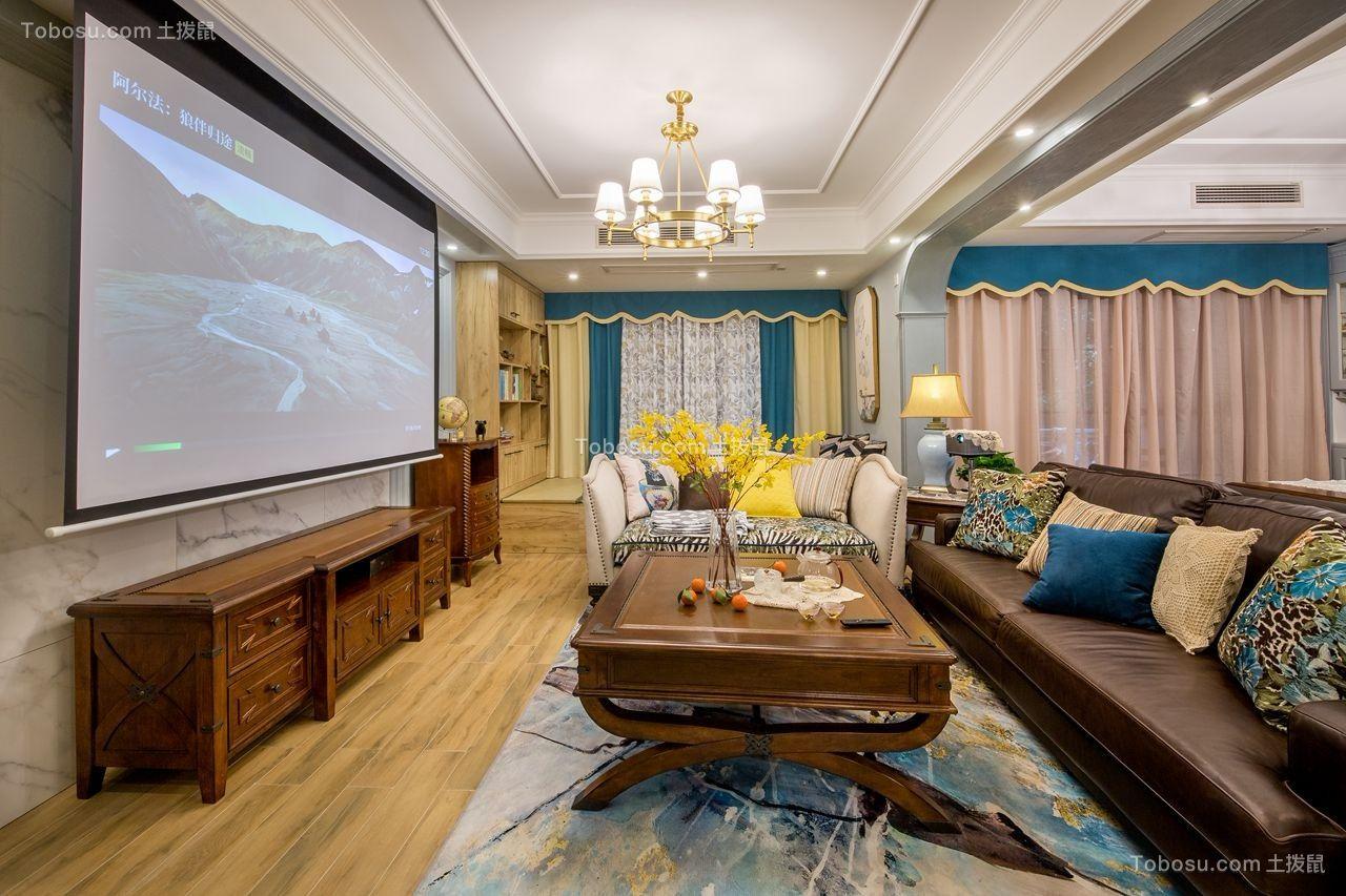 2018美式客厅装修设计 2018美式电视柜装修效果图片