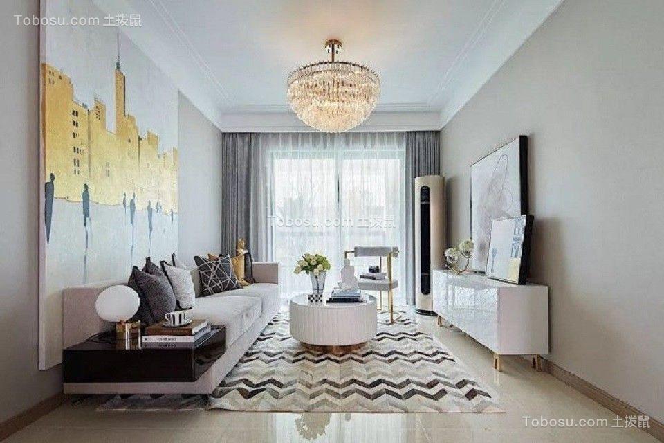79平简约风格公寓装修效果图