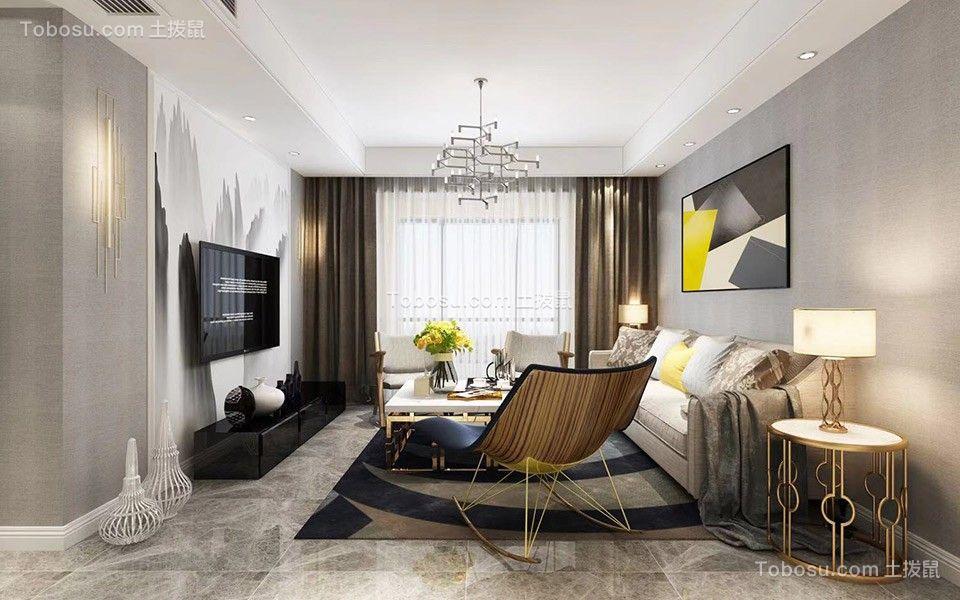 95平现代简约风格三居室装修效果图