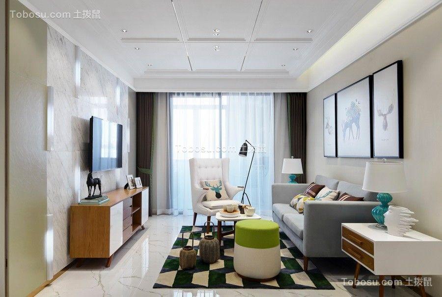 159平北欧风格三居室装修效果图