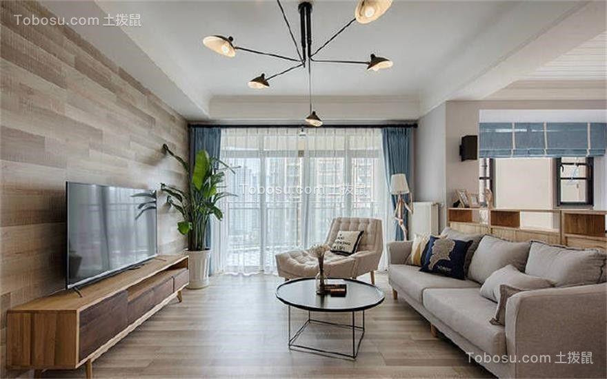 132平简约风格两居室装修效果图