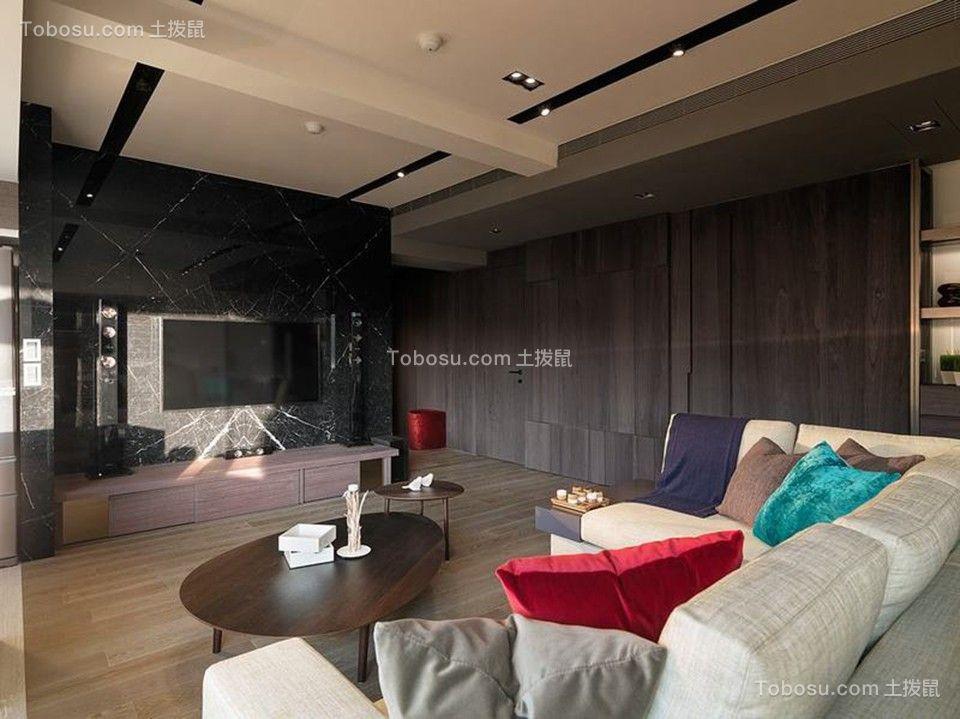 2019简约客厅装修设计 2019简约吊顶设计图片
