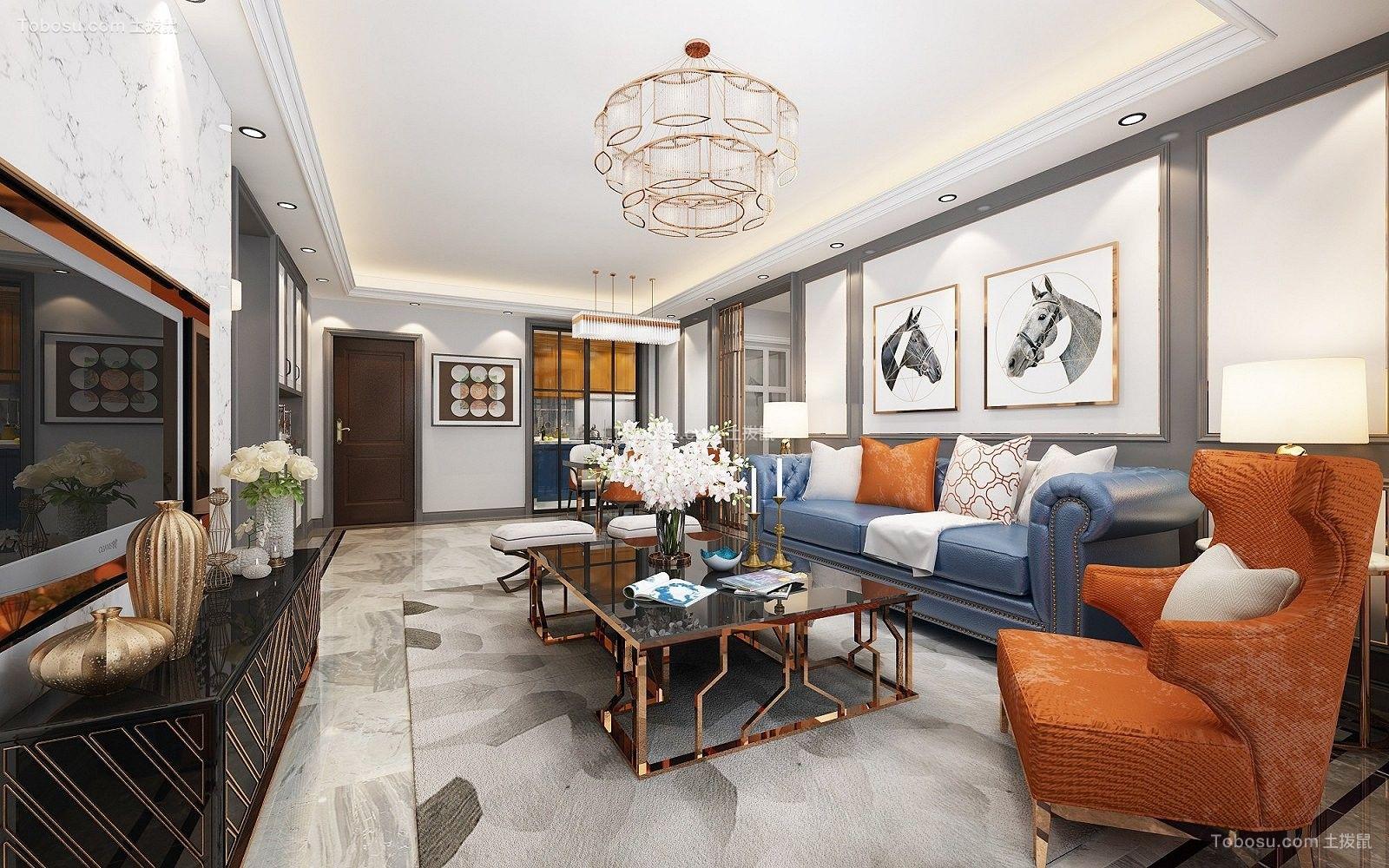 80平米后现代风格两室两厅室内装修效果图
