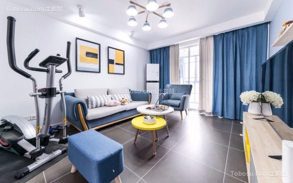 84平米北欧风格两居室房子装修效果图