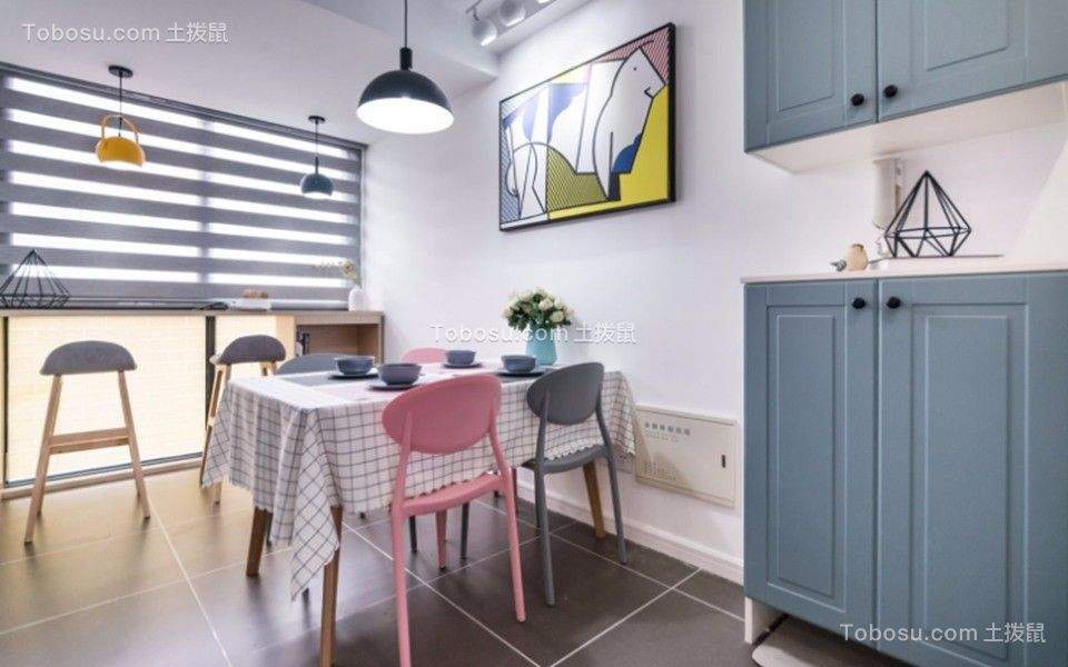 2019简单餐厅效果图 2019简单地板砖设计图片