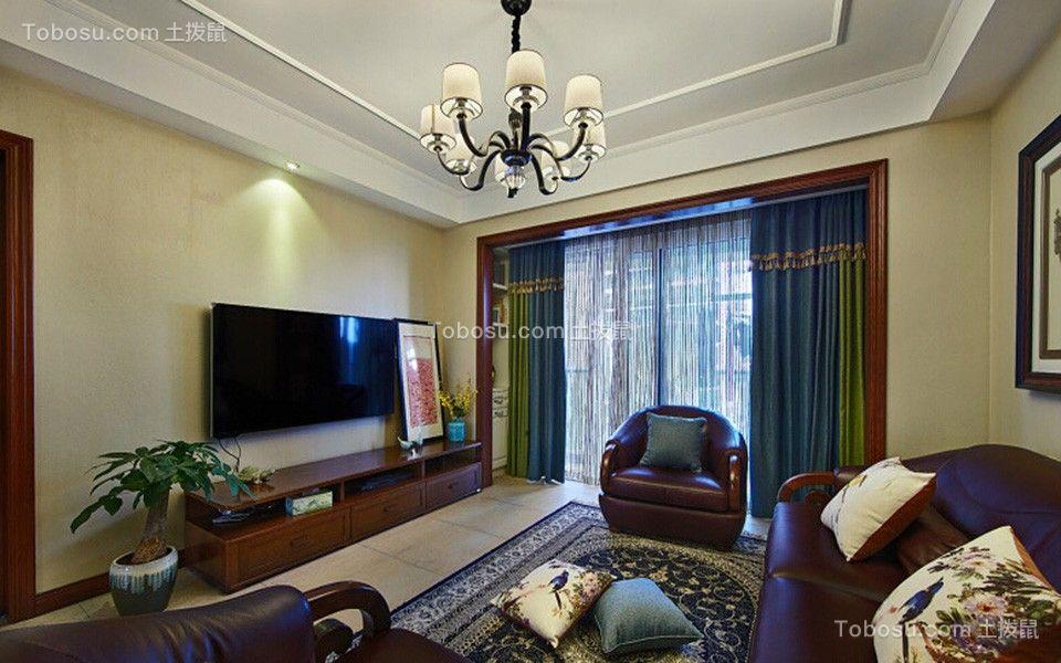 165平美式风格三居室装修效果图