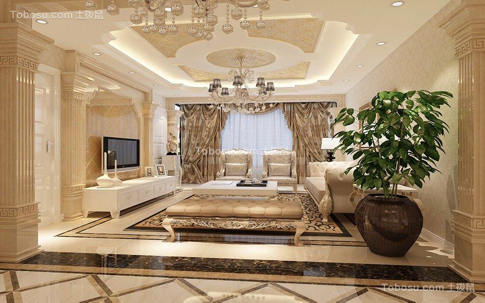 175平欧式风格三居室装修效果图