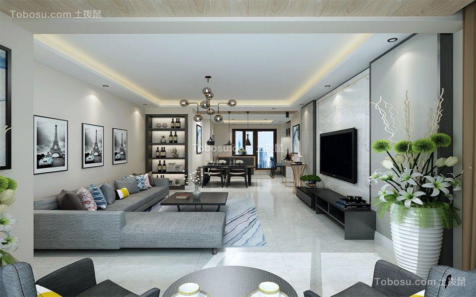 235平现代简约风格四居室装修效果图