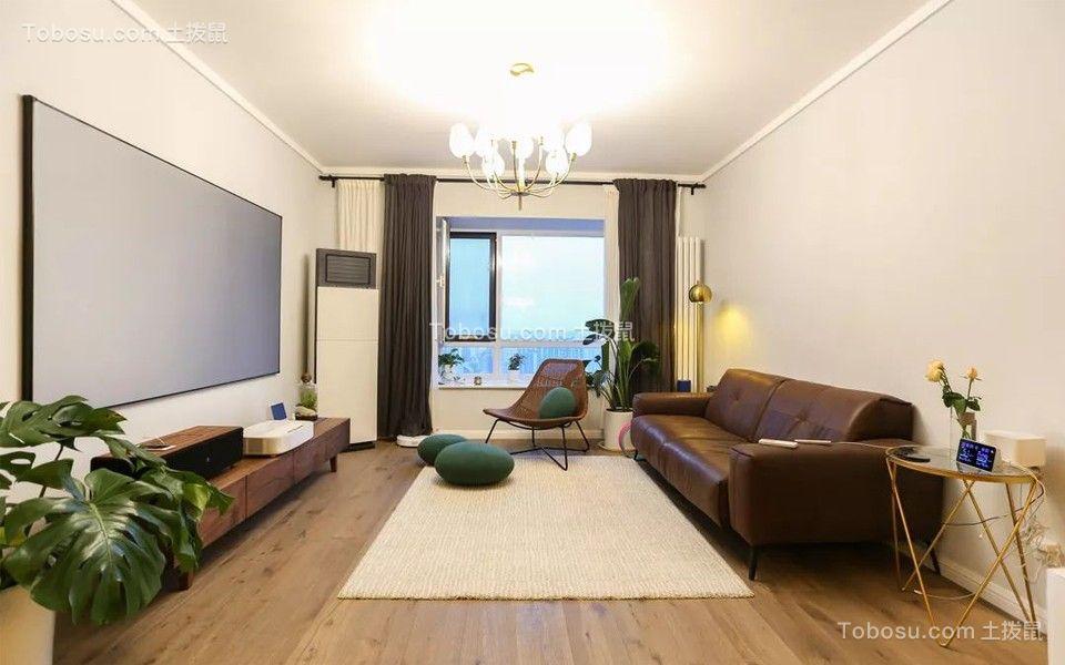 123平现代风格三居室装修效果图