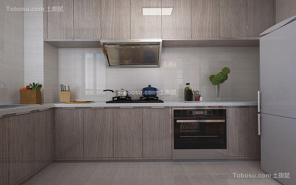 2018现代简约厨房装修图 2018现代简约橱柜装修效果图片