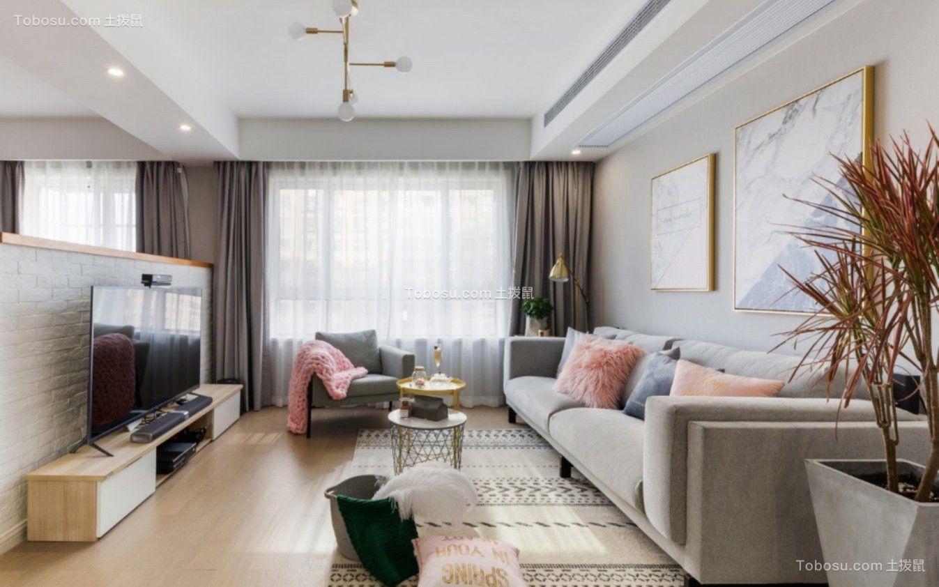 110平北欧风格两居室装修效果图