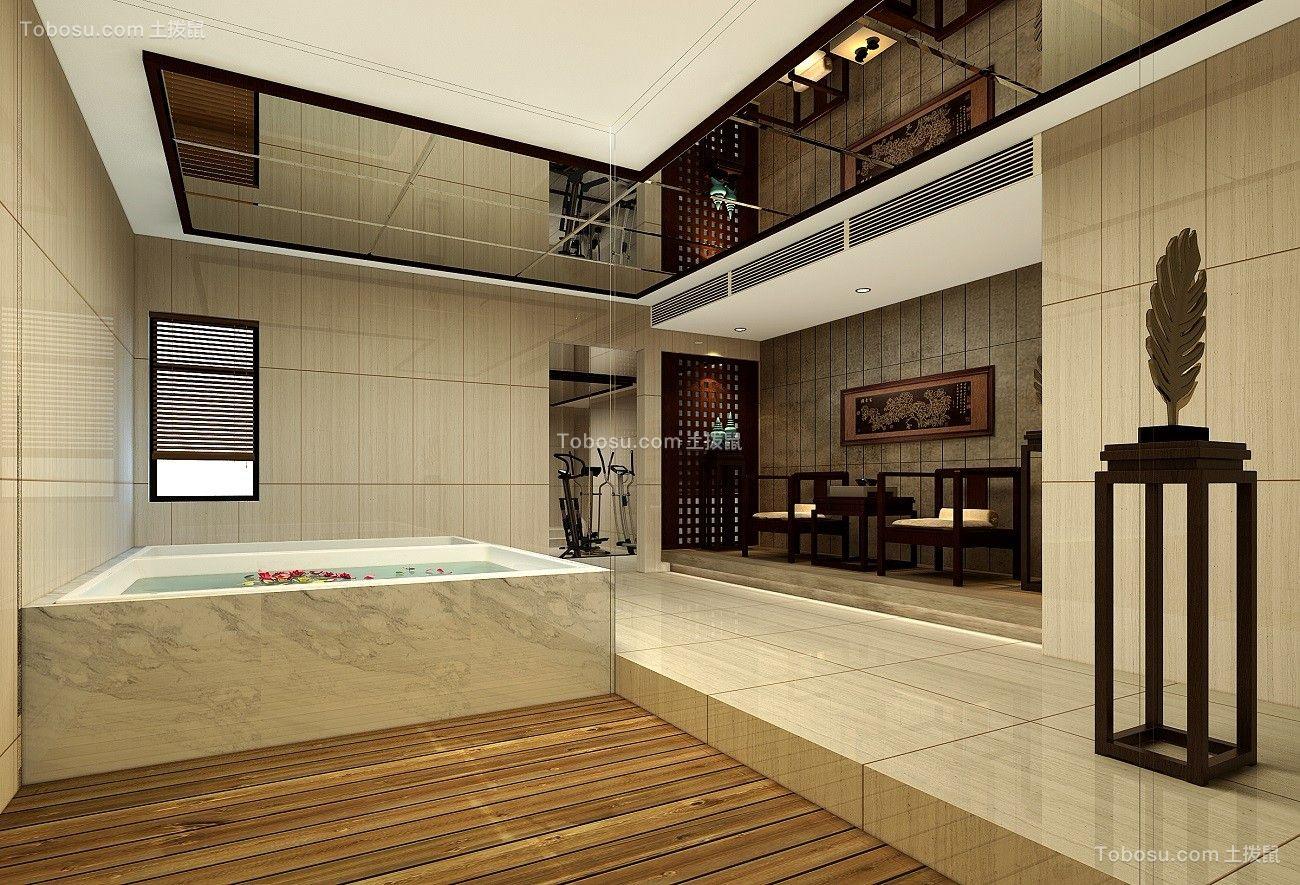 2018新中式浴室设计图片 2018新中式浴缸装修效果图大全